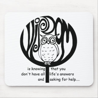 wisdom is mouse mat