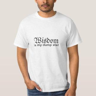 Wisdom Is My Dump Stat T Shirts