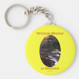 Wisdom Basic Round Button Key Ring