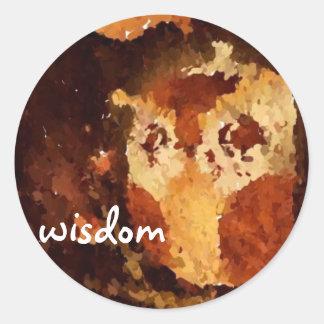 Wisdom: Owl Finger Oil Stickers