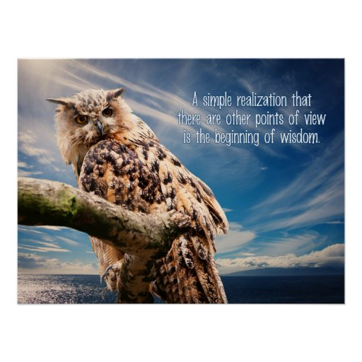 Wisdom Quote Owl poster