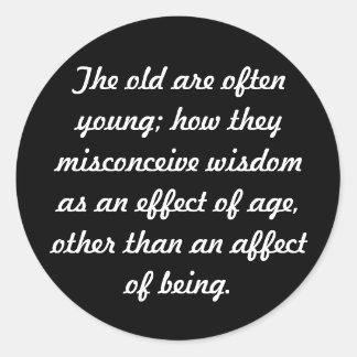 Wisdom Round Stickers