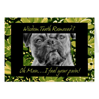 Wisdom Teeth Removal Get Well Funny Dog Card