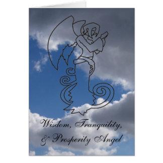 Wisdom, Tranquility, & Prosperity Angel Greeting Cards