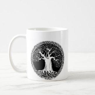 Wisdom Tree (large image version on back) Basic White Mug