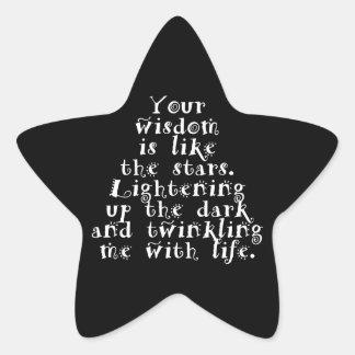 Wisdom Twinkling With Life - Custom Star Stickers