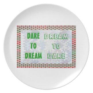 Wisdom Words: Dare to DREAM - Dream to DARE Party Plates