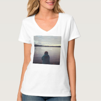 WisdomInWander Inlet Meditation Women's V-Neck T-Shirt