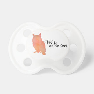 Wise as an Owl Typographical Watercolor Dummy