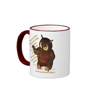Wise Birthday Owl Ringer Mug