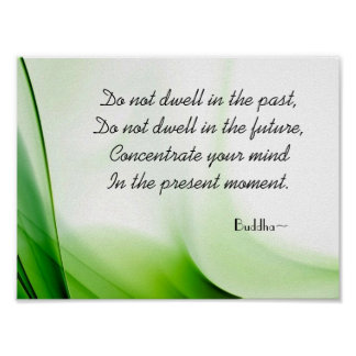 Wise Buddha Quote Abstract Poster