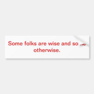 wise bumper stickers