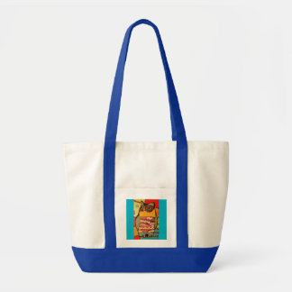 Wise, Colorful Owl on Impulse Tote Bag