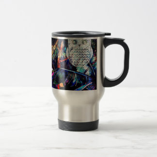 Wise Forest Owl Fantasy Stainless Steel Travel Mug