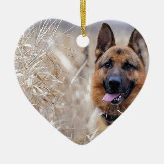 Wise German Shepherd Puppy Christmas Ornament