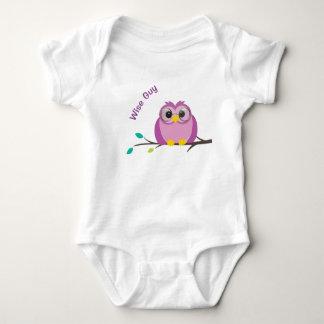 Wise Guy Owl Baby Bodysuit