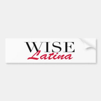 Wise Latina Bumper Stickers