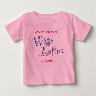 wise_latina_mom_tshirt_baby baby T-Shirt