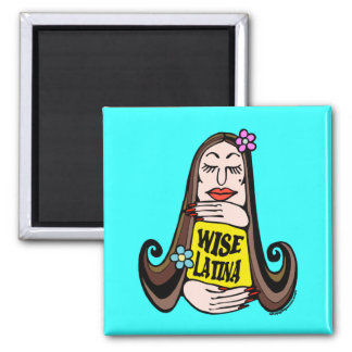 Wise Latina Woman Square Magnet