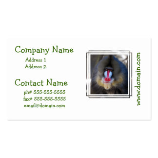 Wise Mandrill Monkey Business Card Templates