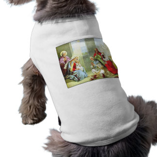 Wise Men At The Nativity Doggie Tee Shirt