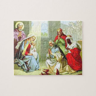 Wise Men At The Nativity Jigsaw Puzzle