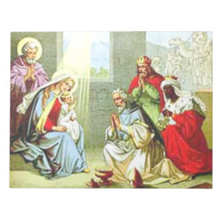Wise Men At The Nativity Notepad