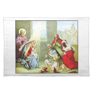 Wise Men At The Nativity Place Mat