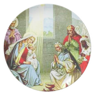 Wise Men At The Nativity Plates