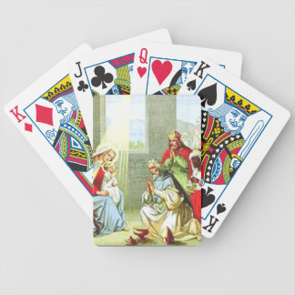 Wise Men At The Nativity Bicycle Playing Cards
