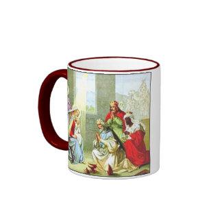 Wise Men At The Nativity Ringer Mug