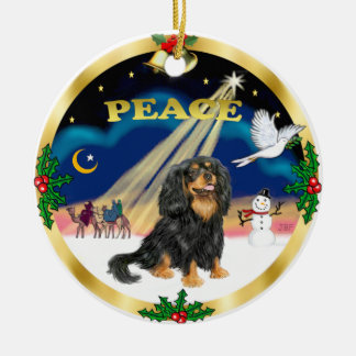 Wise Men - Black and tan Cavalier King Charles Christmas Ornament