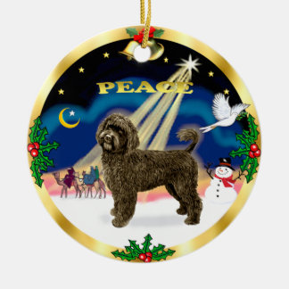Wise Men -Brown Portuguese Water Dog Christmas Ornament