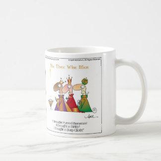 WISE MEN CHRISTMAS Cartoon Mug by April McCallum
