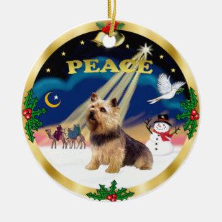 Wise Men - Norwich Terrier Round Ceramic Decoration