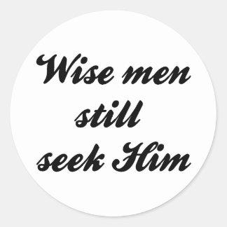 Wise Men Round Sticker