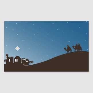 Wise Men Seek Him Christmas Rectangle Sticker
