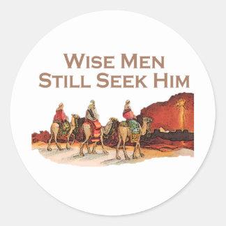 Wise Men Still Seek Him, Christmas Round Sticker