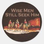 Wise Men Still Seek Him, Christmas Round Stickers
