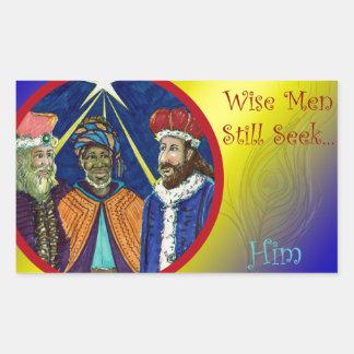 Wise Men Still Seek Him! Rectangular Sticker