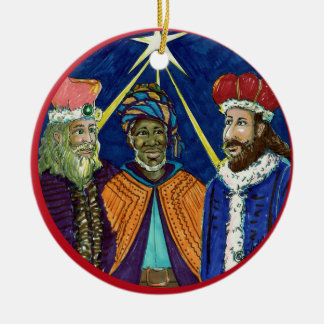 Wise Men Still Seek Him! Round Ceramic Decoration