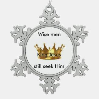 Wise men still seek Him snowflake ornament
