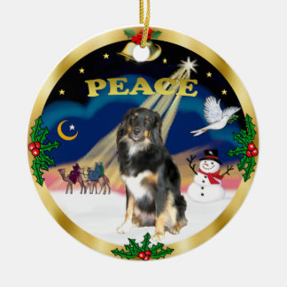 Wise Men - Tri Color Australian Shepherd Christmas Ornament