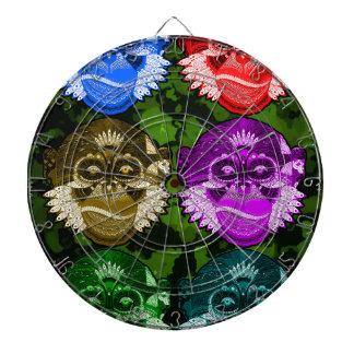 Wise Monkey Face Mask Dartboard