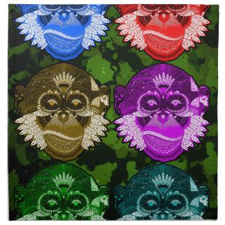 Wise Monkey Face Mask Napkin
