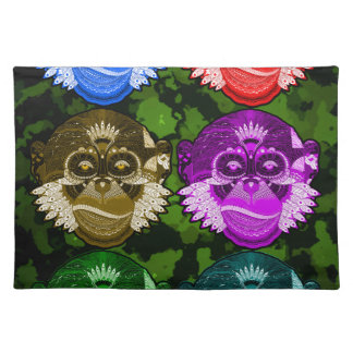 Wise Monkey Face Mask Placemat