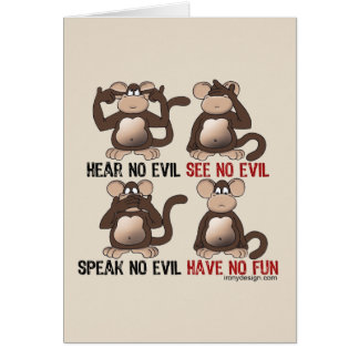 Wise Monkeys Humour Card