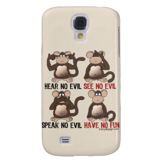 Wise Monkeys Humour Galaxy S4 Case