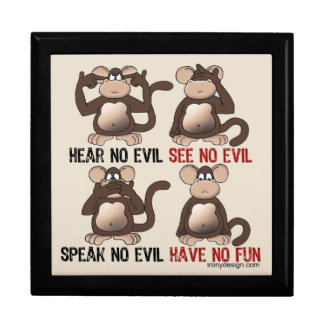 Wise Monkeys Humour Gift Box