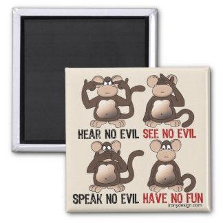 Wise Monkeys Humour Magnet